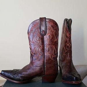 Tony Lama Flames Cowboy Boots
